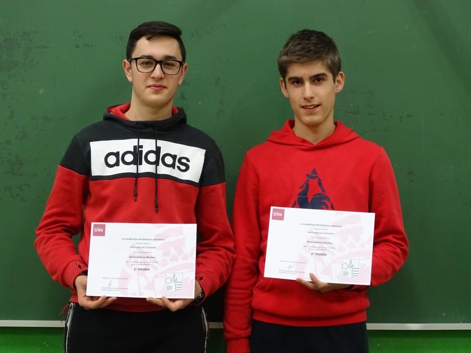 Los 2 ganadores Pablo y Alvaro (en ese orden en la foto)